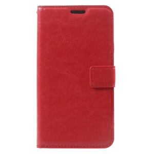 Crazy Horse Magnetic Leather Stand Case for Samsung Galaxy Xcover 4s / Xcover 4 - Red