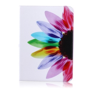 Pattern Printing Wallet Leather Shell with Stand for Samsung Galaxy Tab S2 9.7 T810 T815 - Colorful Petals