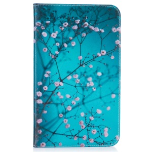 Pattern Printing Leather Wallet Tablet Shell for Samsung Galaxy Tab A 7.0 T280 T285 - Tree with Flowers