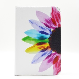 Pattern Printing Leather Wallet Case With Stand for Samsung Galaxy Tab A 8.0 SM-T350 - Colorful Petals