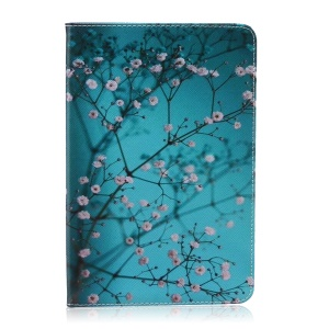 Patterned Wallet Leather Tablet Shell for Samsung Galaxy Tab A 8.0 SM-T350 - Tree with Flowers