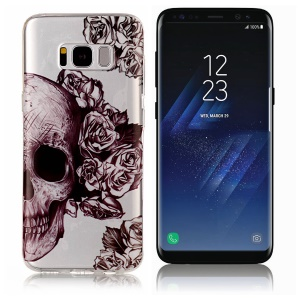 Pattern Printing IMD TPU Protective Case for Samsung Galaxy S8+ SM-G955 - Cool Skull