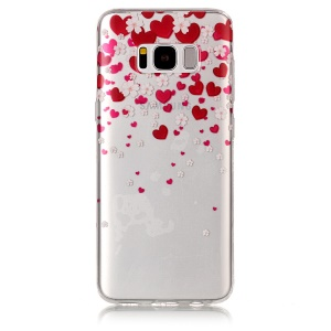 IMD Pattern TPU Phone Case for Samsung Galaxy S8 G950 - Hearts and Flowers