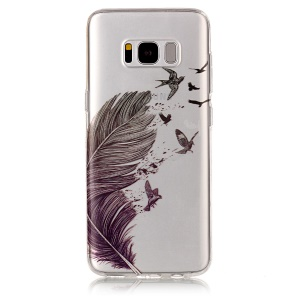IMD Pattern TPU Back Case for Samsung Galaxy S8 G950 - Feather Pattern