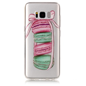 For Samsung Galaxy S8 G950 IMD Pattern TPU Mobile Phone Case - Macaroon Pattern