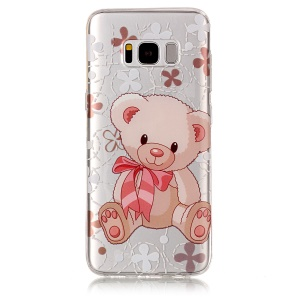 Pattern Printing IMD TPU Back Cover for Samsung Galaxy S8 G950 - Adorable Bear
