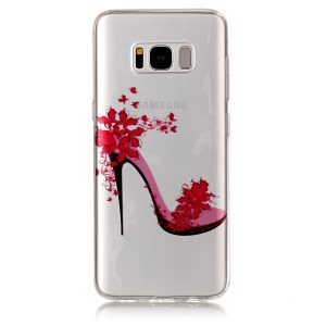 Pattern Printing IMD TPU Mobile Phone Shell for Samsung Galaxy S8 G950 - High-heeled Shoe