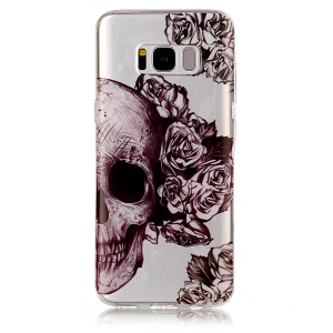 IMD Pattern TPU Case Mobile Accessory for Samsung Galaxy S8 G950 - Cool Skull