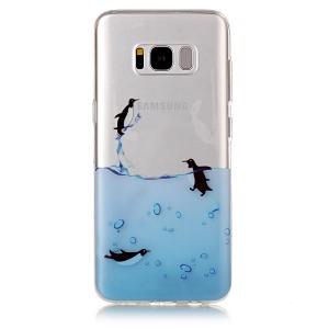 Pattern Printing IMD TPU Jelly Case for Samsung Galaxy S8 G950 - Lovely Penguin
