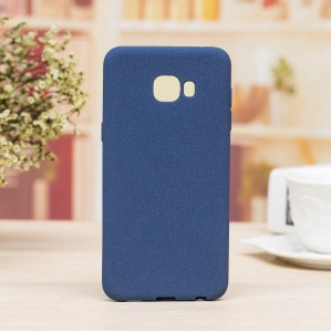Skin-touch TPU Flexible Case for Samsung Galaxy C9 Pro - Blue