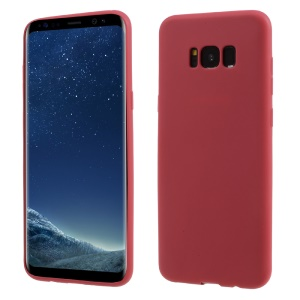 Solid Color Matte TPU Skin Phone Case for Samsung Galaxy S8 G950 - Red