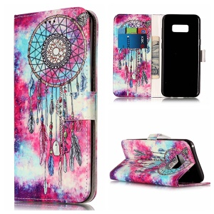 Patterned Leather Mobile Shell with Card Slots for Samsung Galaxy S8 G950 - Dream Catcher