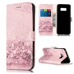 For Samsung Galaxy S8 Plus G955 Pattern Printing PU Leather Wallet Phone Case - Glittery Sequins
