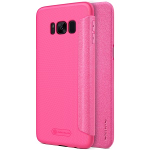 NILLKIN Sparkle Series Flip PU Leather Mobile Cover for Samsung Galaxy S8 Plus G955 - Rose