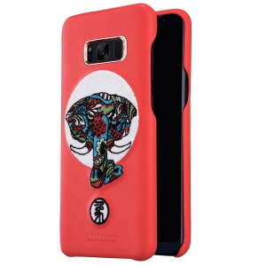 NILLKIN Chinese Embroidery Leather Coated PC Brocade Case for Samsung Galaxy S8 Plus G955 - Elephant