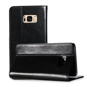 KALAIDENG Royal II Wallet Genuine Leather Case for Samsung Galaxy S8 Plus G955 - Black