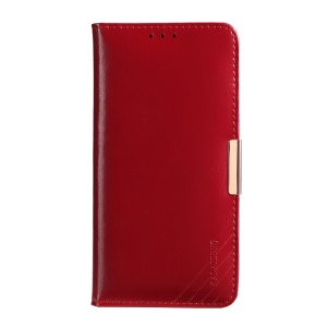 KALAIDENG Royal II Genuine Leather Wallet Phone Cover for Samsung Galaxy S8 Plus G955 - Red