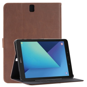 Retro Crazy Horse Flip Leather Case for Samsung Galaxy Tab S3 9.7-inch T820 - Coffee