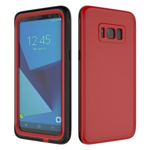 10M Underwater Waterproof PC+TPU Phone Casing for Samsung Galaxy S8+ G955 with Responsive Buttons - Red