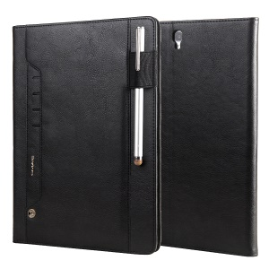CMAI2 Luxury Leather Stand Case Cover with Card Slots for Samsung Tab S3 9.7-inch T820 - Black
