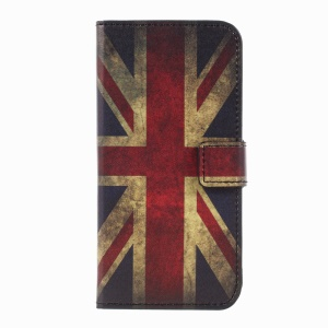 Pattern Printing Wallet Leder Stand Handy Cover für Samsung Galaxy Xcover 4 - Retro UK Flagge