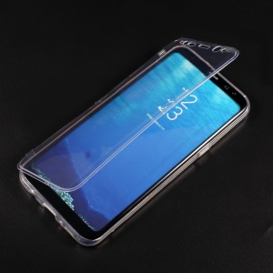 Folio Style TPU Protective Case for Samsung Galaxy S8+ G955 - Transparent