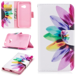 Pattern Printing Phone Shell Leather Wallet Shell Cover for Samsung Galaxy Xcover 4 SM-G390F - Petals Pattern