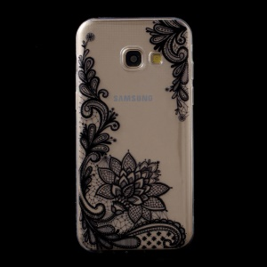 For Samsung Galaxy A5 (2017) SM-A520F Ultra Thin Soft TPU Patterned Back Cover - Lotus