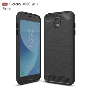 Carbon Fiber Brushed TPU Case für Samsung Galaxy J5 (2017) EU Version - Schwarz