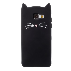 Cute 3D Mustache Cat Soft Silicone Mobile Casing for Samsung Galaxy A5 (2016) - Black
