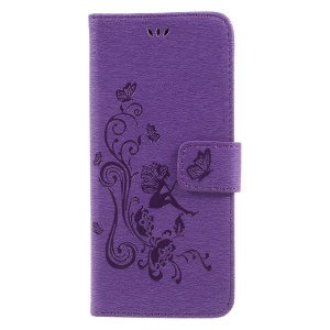 Impressum Elf Butterfly Flowers Portacellulare Magnetic Shell per Cellulare Samsung Galaxy S8 + SM-G955-Viola