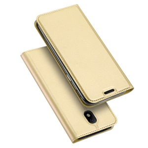 DUX DUCIS Skin Pro Series Leather Cover with Card Slot for Samsung Galaxy J5 (2017) EU / Asia Version - Gold