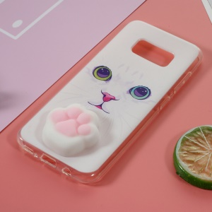 Kneading 3D Silicone Squishy Cat Paw TPU Gel Cover for Samsung Galaxy Grand Prime SM-G530 - Cat Pattern