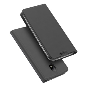 DUX DUCIS Skin Pro Series Leather Stand Case with Card Slot for Samsung Galaxy J3 (2017) EU Version - Black