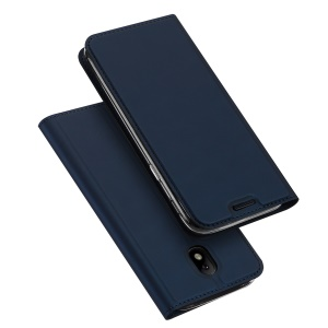 DUX DUCIS Skin Pro Series for Samsung Galaxy J3 (2017) EU Version Leather Stand Case with Card Slot - Dark Blue