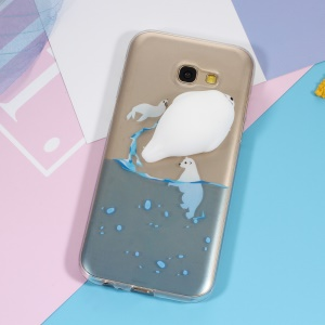 3D Squishy Silicone Seal Sea Dog Pattern Printing TPU Phone Case for Samsung Galaxy A5 (2017) SM-A520F