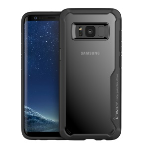 IPAKY Anti-drop PC + TPU Hybrid Mobile Phone Case for Samsung Galaxy S8 G950 - Black