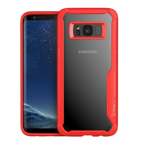 IPAKY Anti-drop PC + TPU Hybrid Phone Case Accessory para Samsung Galaxy S8 G950 - vermelho