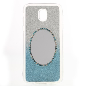 Gradient Color Bling Flash Powder Diamond Mirror TPU Soft Case pour Samsung Galaxy J5(2017) EU version - Bleu