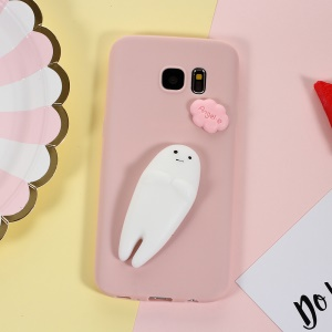 Squishy Pinch 3D Silicone Soft Ghost Kneading TPU Cover for Samsung Galaxy S7 G930 - Pink