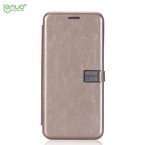 LENUO Crazy Horse PU Leather Card Holder Cover para Samsung Galaxy S8 Plus SM-G955 - ouro