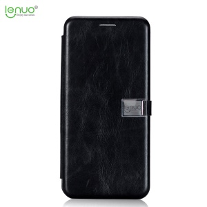 LENUO Crazy Horse PU Leather Card Holder Case para Samsung Galaxy S8 G950 - negro