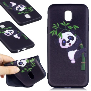 Soft Embossed Pattern Printing TPU Mobile Phone Case for Samsung Galaxy J5 (2017) EU Version - Panda on Bamboo