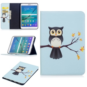 For Samsung Galaxy Tab S2 8.0 T710 T715 Pattern Printing Leather Wallet Protection Casing Cover - Adorable Owl