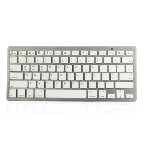 Wireless Bluetooth 3.0 Keyboard Appk78 for iPhone iPad Samsung Smartphone Tablet Laptop - White