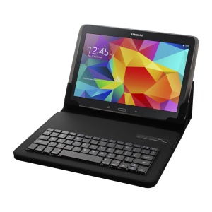 Universal Bluetooth Keyboard Leather Stand Case for 9-10.1 inch Tablet PC - Black