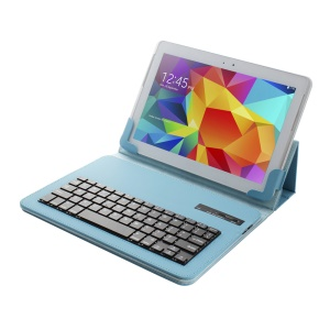 Universal Bluetooth Keyboard Leather Case Stand for 9-10.1 inch Tablet PC - Blue