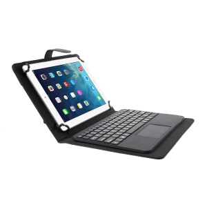 Bluetooth Keyboard with Leather Stand Case for iPad Air 2 / HTC Google Nexus 9, Size: 180-266mm - Black