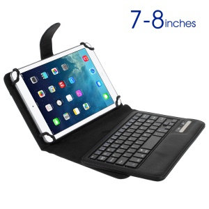 Danish Denmark Bluetooth Keyboard Leather Stand Cover for iPad mini 3 / Galaxy Tab 4 7.0, Size: 135-208mm
