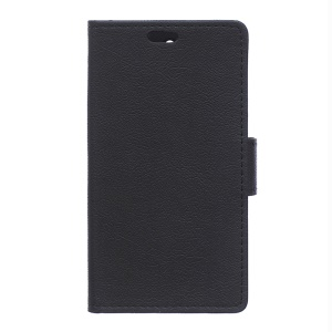 Wallet Stand Leather Cover for Sony Xperia C5 Ultra E5553 / Ultra Dual E5533 - Black